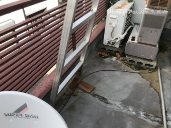 台風の強風で吹き飛ばされ落下した瓦