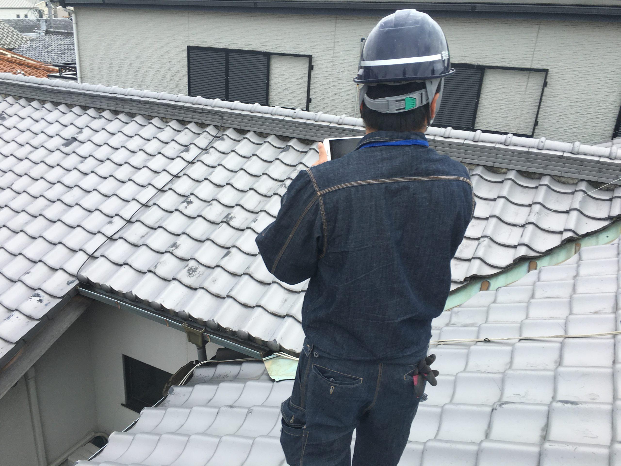 立派な瓦屋根
