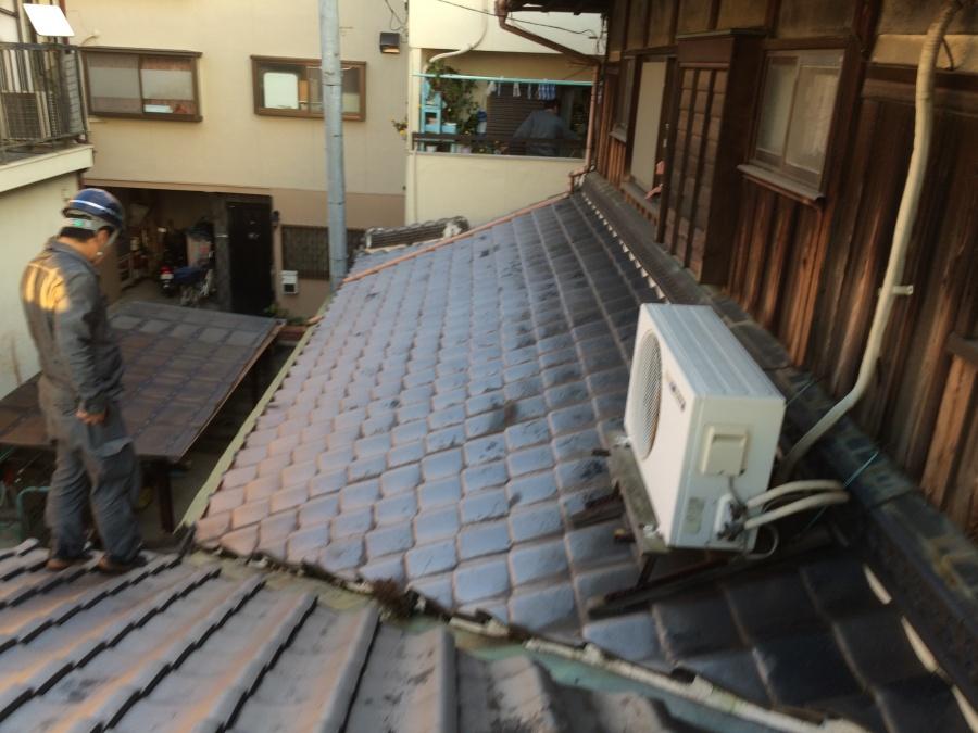 大東市 屋根漆喰調査の流れをご紹介。