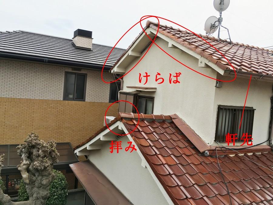 屋根の部位名