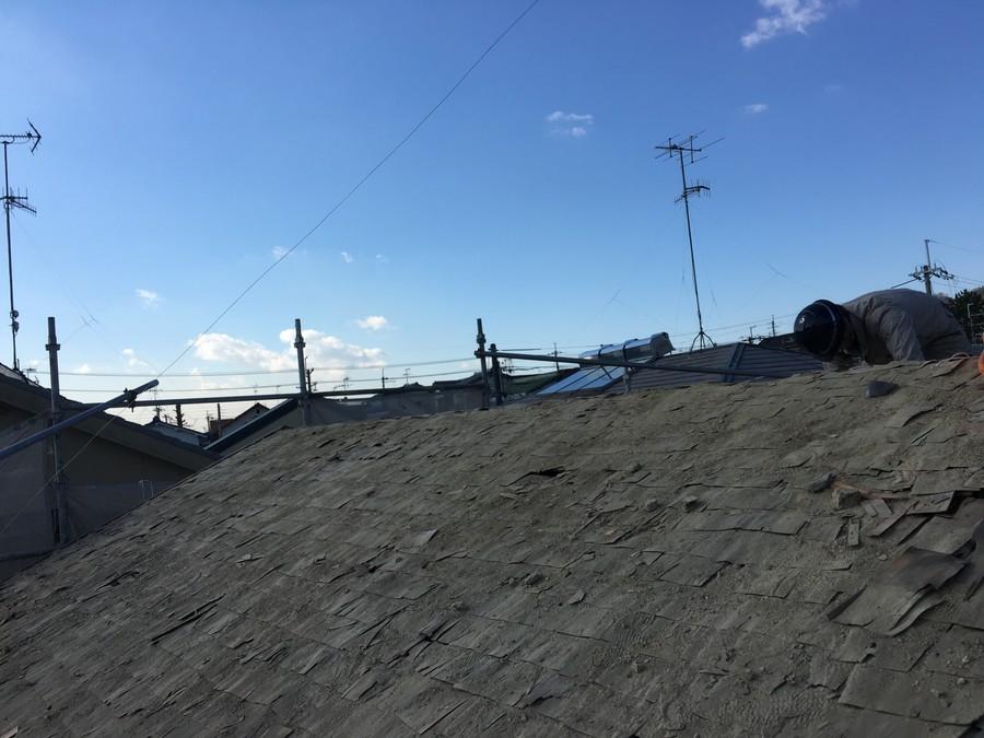箕面市にて雨漏りを解決する瓦屋根葺き替え工事 下葺き材⑥