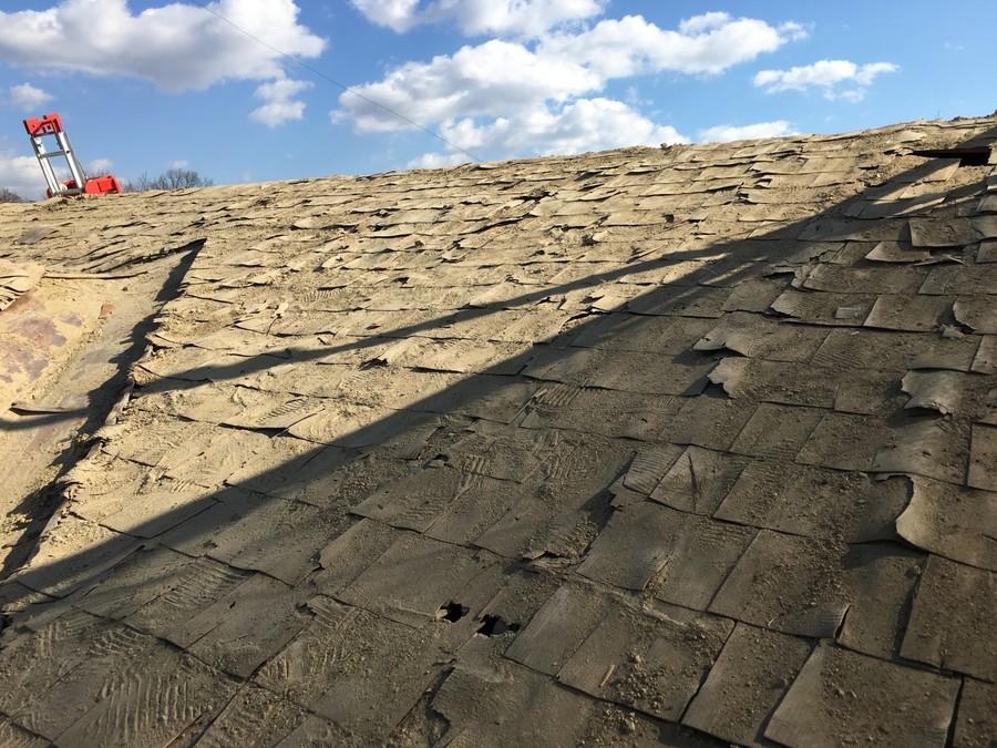 箕面市にて雨漏りを解決する瓦屋根葺き替え工事 下葺き材⑤