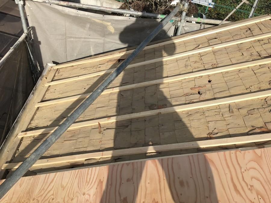 箕面市にて雨漏りを解決する瓦屋根葺き替え工事 胴縁