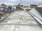 防水塗装のとれた劣化した屋上