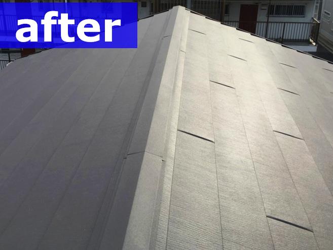 工事で復旧した屋根