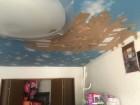 天井に雨漏り発生でガムテープで応急処置