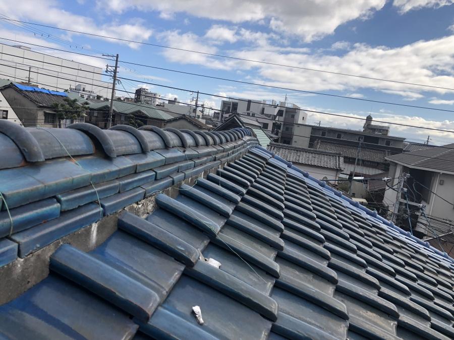 屋根修理工事ビフォー