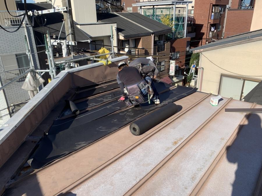 屋根リフォーム 防水紙