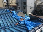台風で崩壊した瓦屋根