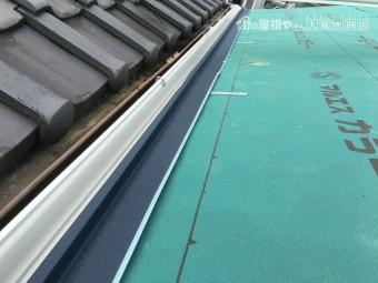 新しい雨樋設置