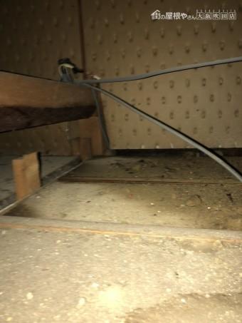 屋根裏雨漏り雨染み