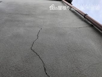 地震による外壁のクラック