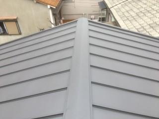 立平への屋根カバー工事施工完了