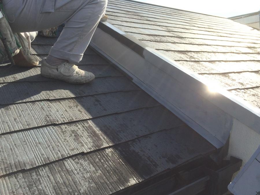 屋根板金サビ止め塗装