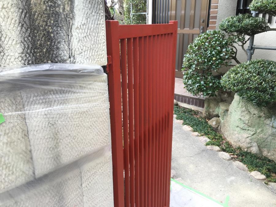 門サビ止め塗装