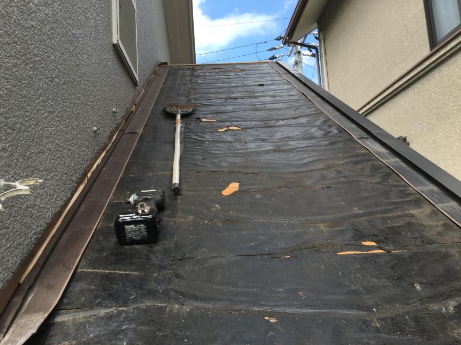 屋根めくり防水シート
