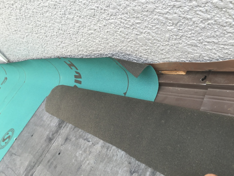 カラールーフ壁際防水