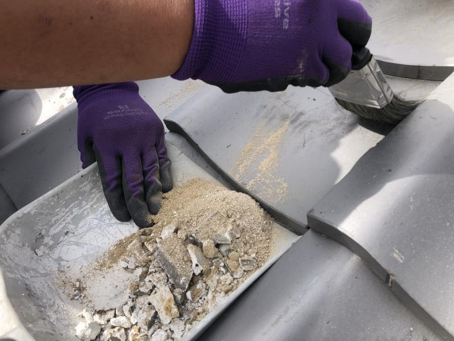 漆喰斫り清掃
