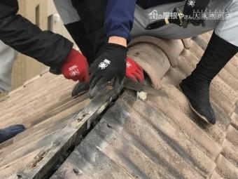 棟積み替え工事 下地木の撤去