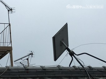 テレビアンテナの傾き