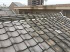 熨斗瓦下の漆喰詰め直し後の屋根