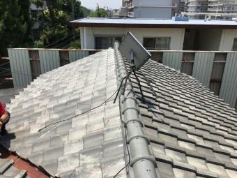豊中市 葺き替え前の瓦屋根
