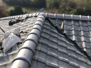 屋根修繕後の棟