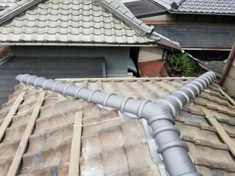 補修後の屋根の棟