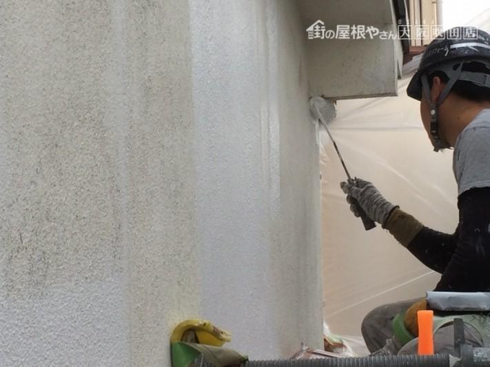 ローラーで外壁塗装