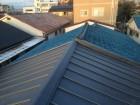 葺き替え工事完成 ガルバリウム鋼板製屋根立平