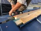 金属屋根葺き替え工事中