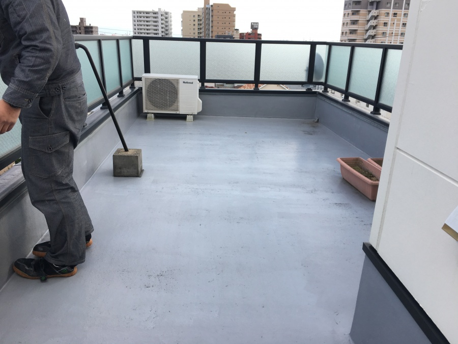 屋上の防水施工