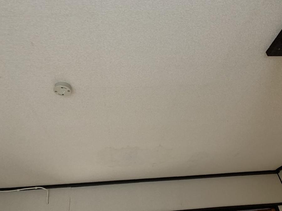 雨漏りしている天井の様子