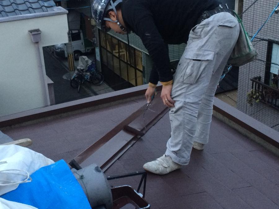 スレート屋根板金塗装