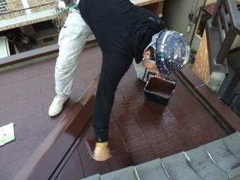 スレート屋根上塗り塗装