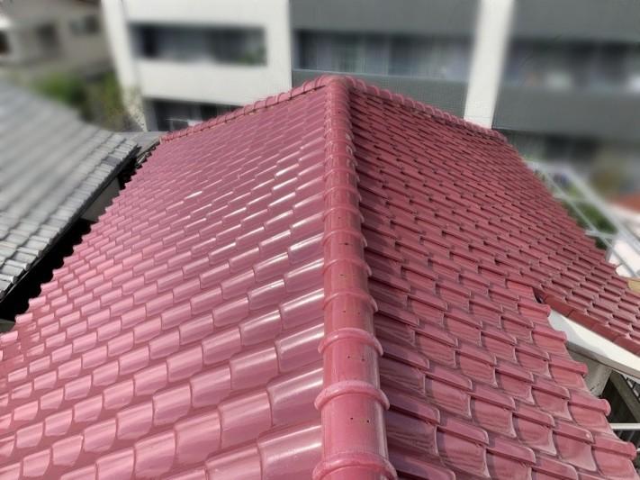 修理前の瓦屋根(全体)