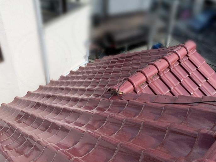 修理前の瓦屋根(平部)