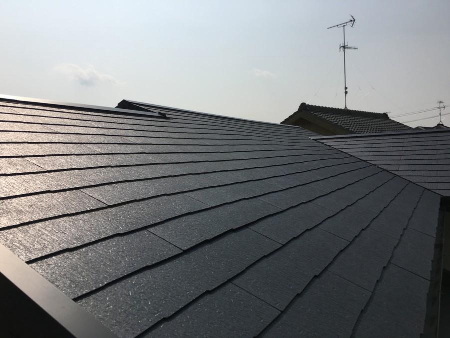 雨漏り修理から1ヶ月経過した屋根