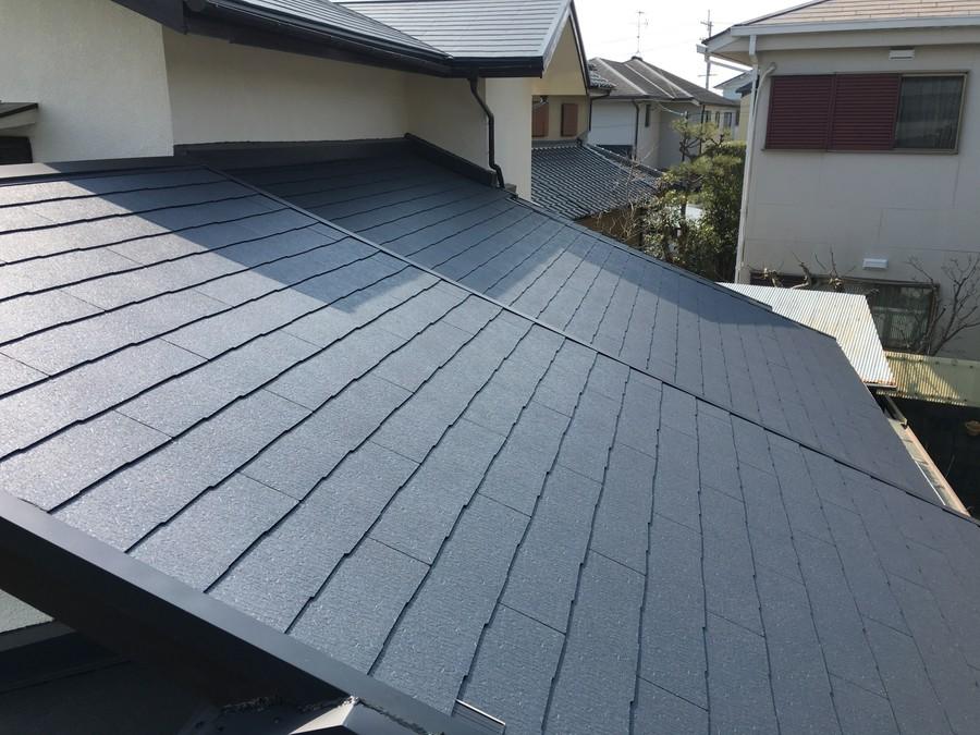 雨漏り修理工事から半年経過した屋根