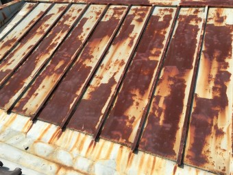 雨漏り調査した瓦棒屋根