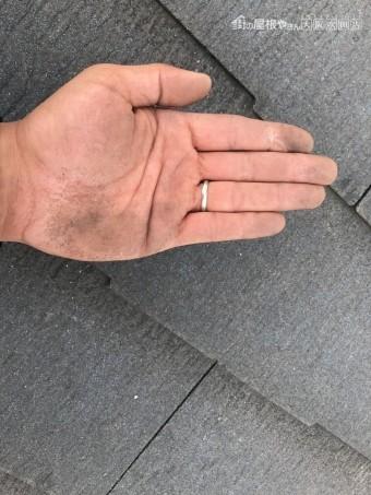 スレート屋根塗装剥げ