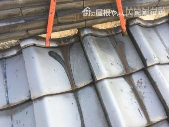 錆びの見られる屋根瓦