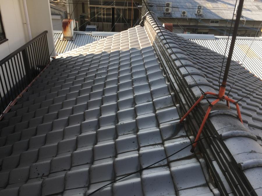 経年劣化した大屋根