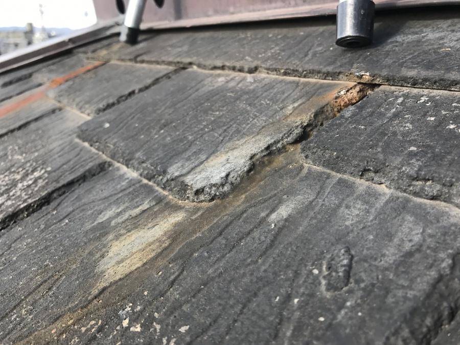 屋根葺き替え工事 スレート屋根