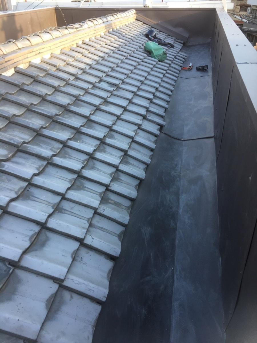 防水・板金工事した屋上ベランダ