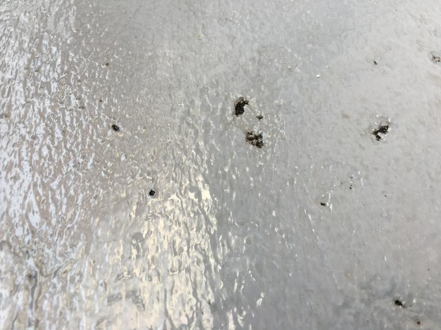 防水塗装の剥げたベランダバルコニー