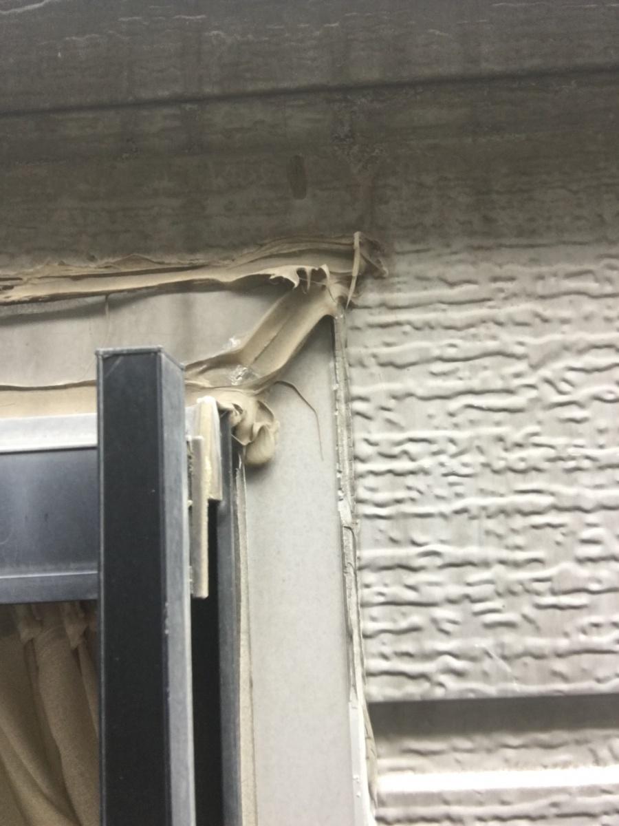 外壁サッシ廻り部分シール打替え工事前