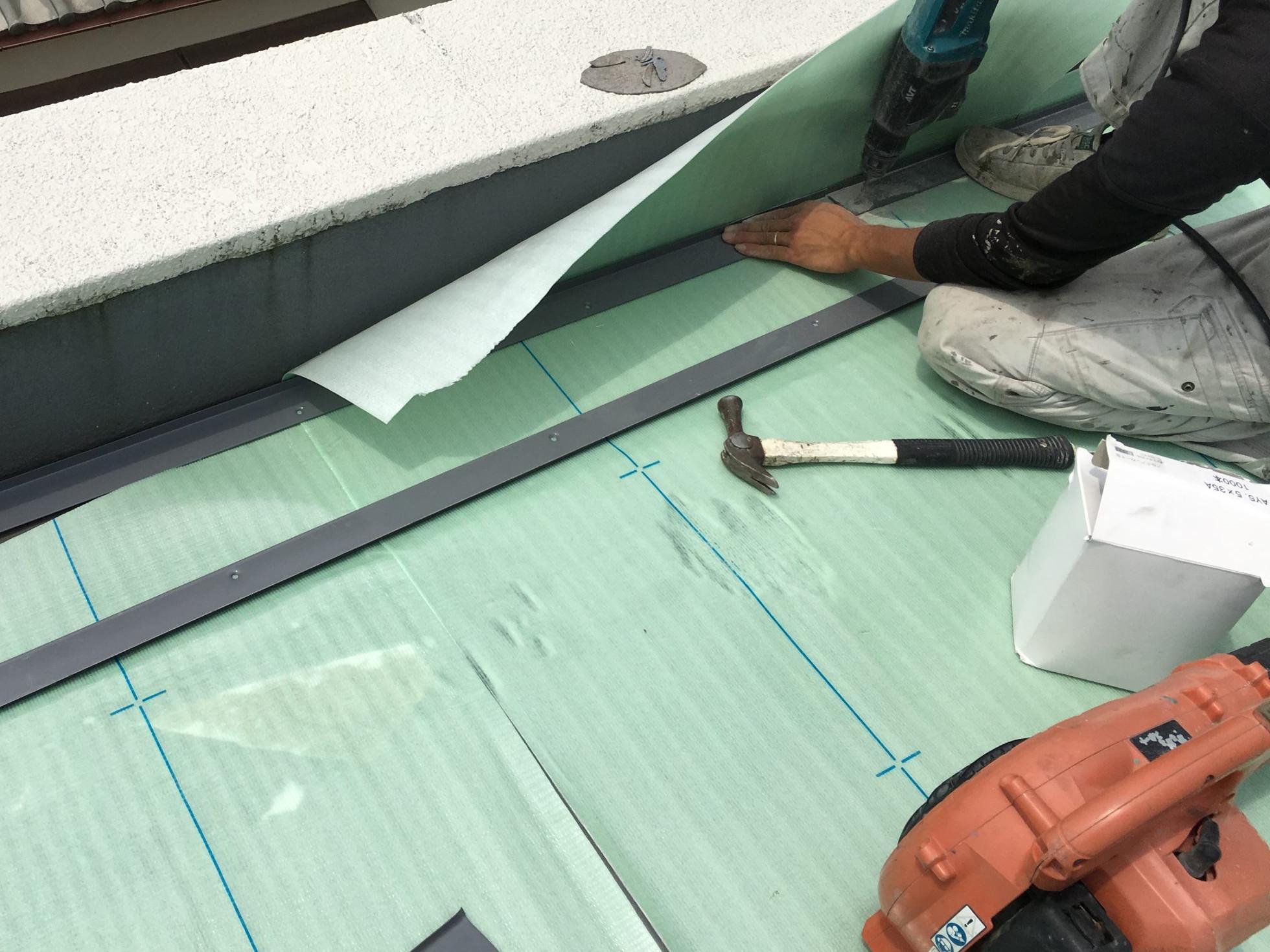 塩ビ鋼板の設置