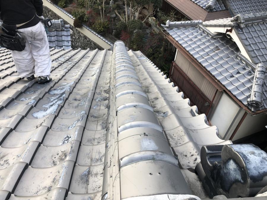 屋根修繕後の瓦屋根