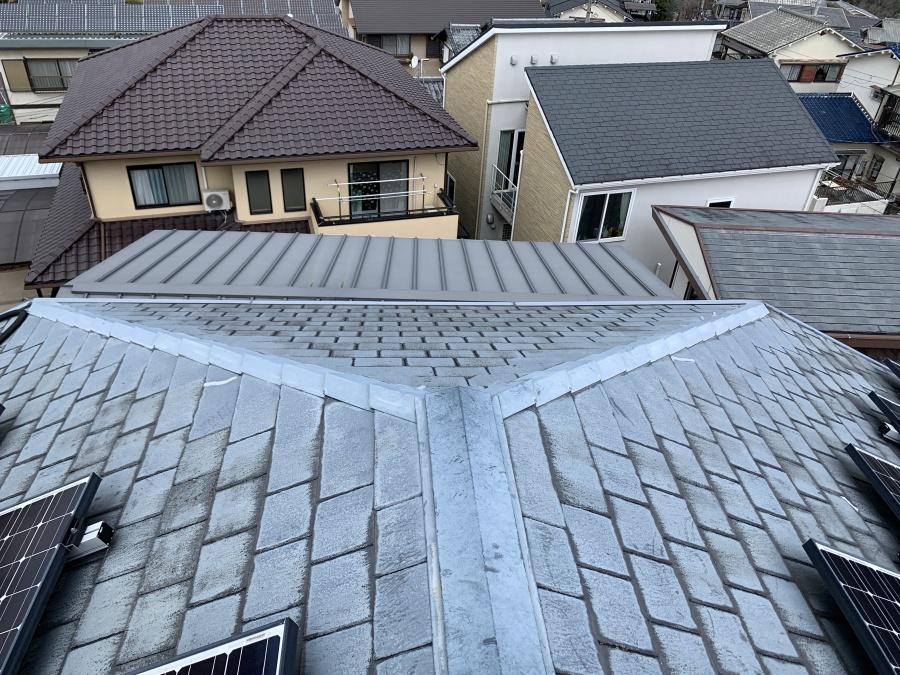 雨漏り原因の可能性の高いスレート屋根